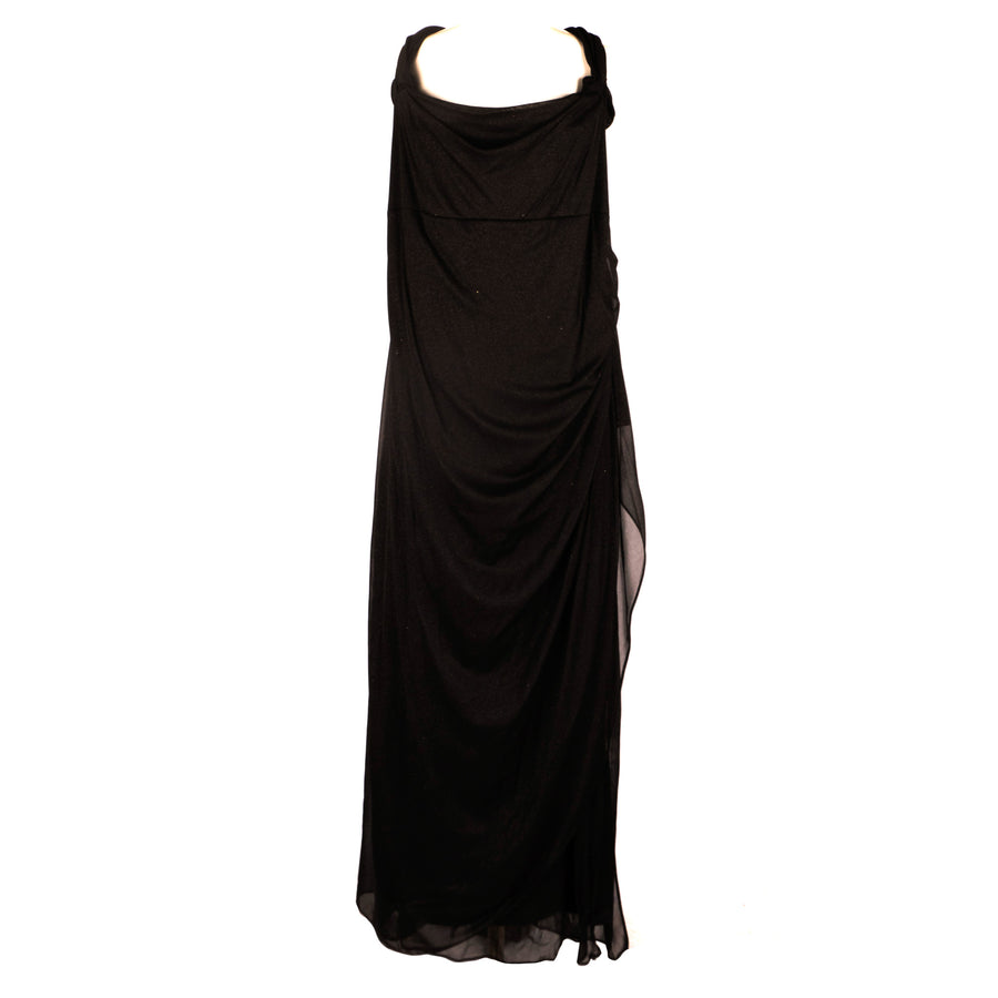 Black Cold Shoulder Gown - Size 24