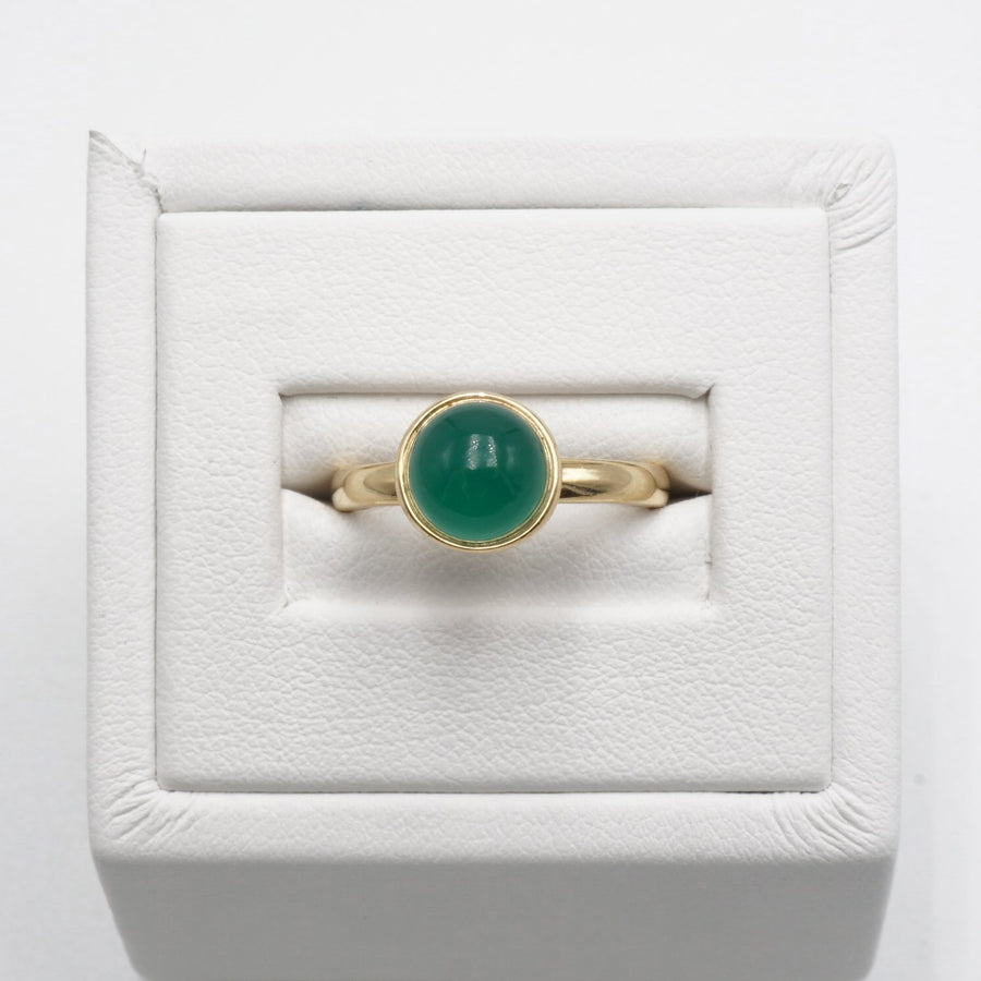 Yellow Gold Chalcedony Bauble Ring