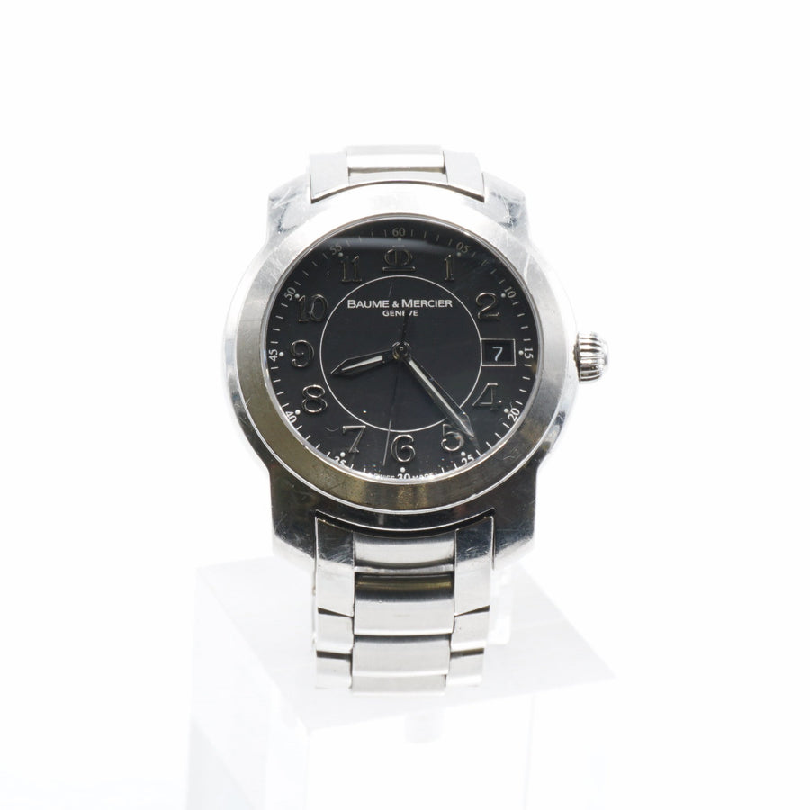 Capeland Stainless Steel Black Dial Watch