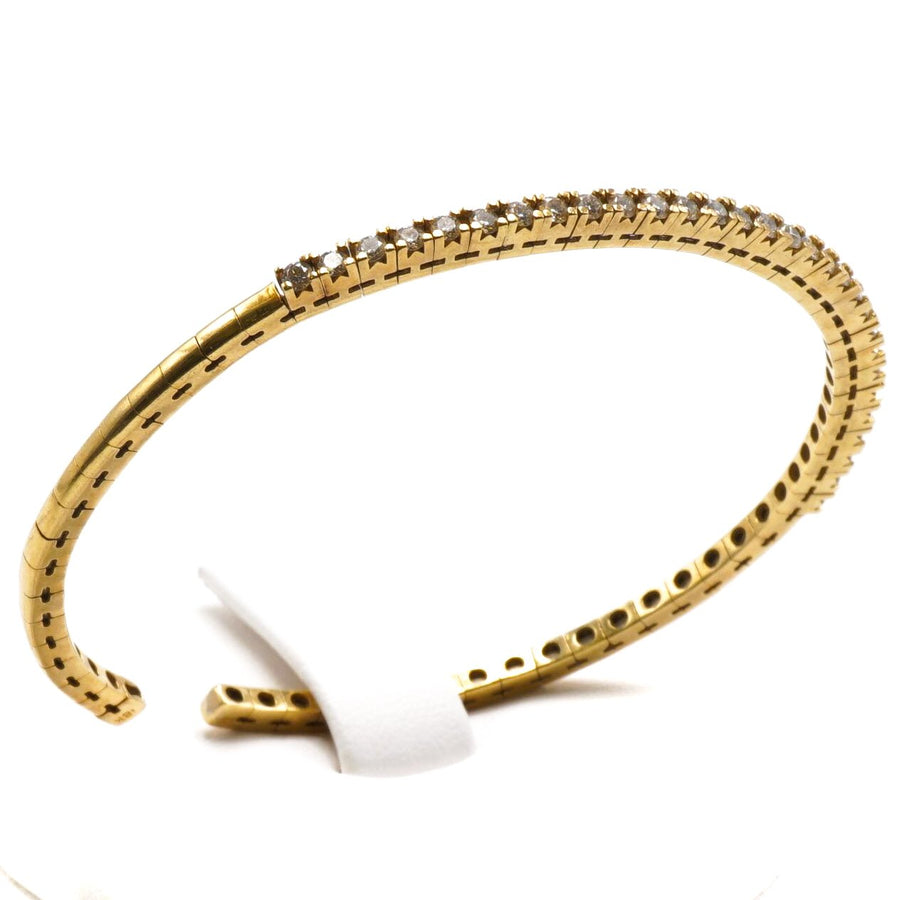 Flex Cuff Diamond Bracelet
