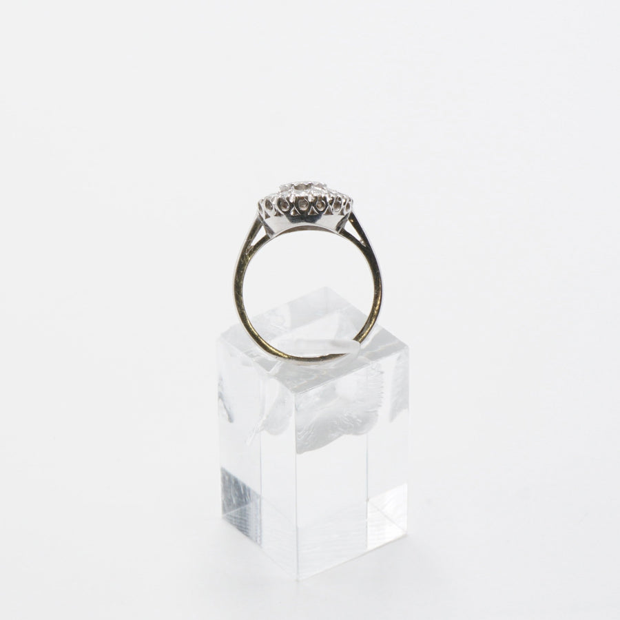 Old Style Diamond Halo Ring