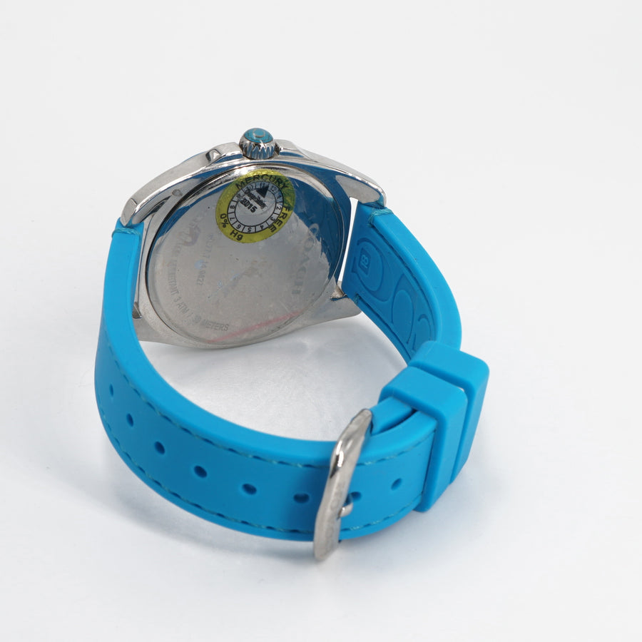 Blue Stainless Steel Watch
