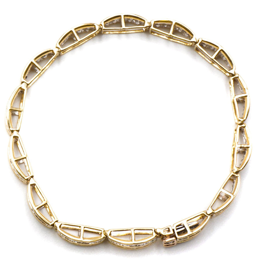 "7"" Yellow Gold Diamond Bracelet"