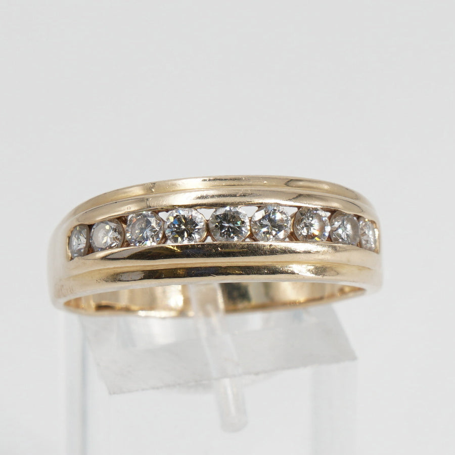 Diamond and Gold Band Size 11