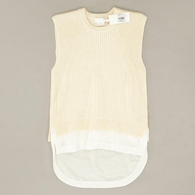 Sleeveless Hi-Low Sweater