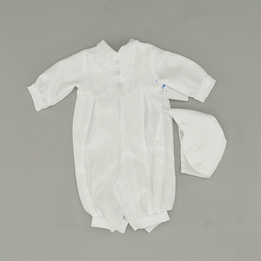White Romper With Hat Size 6-9 Months