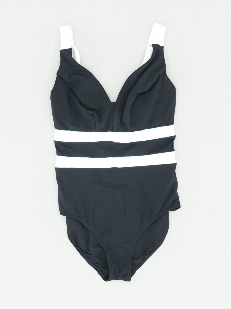 Black One-Piece Swimsuit Size 6