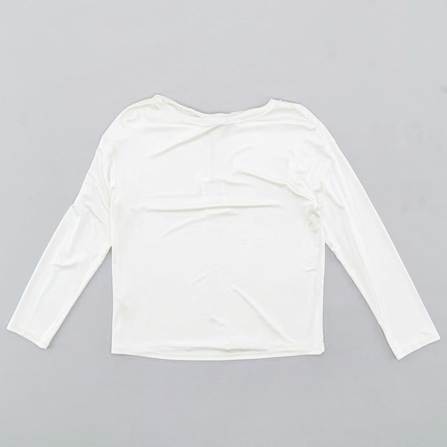 Causal White Long Sleeve Size L