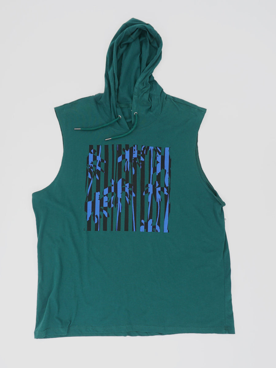 Hooded Sleeveless Tank Size 3XL