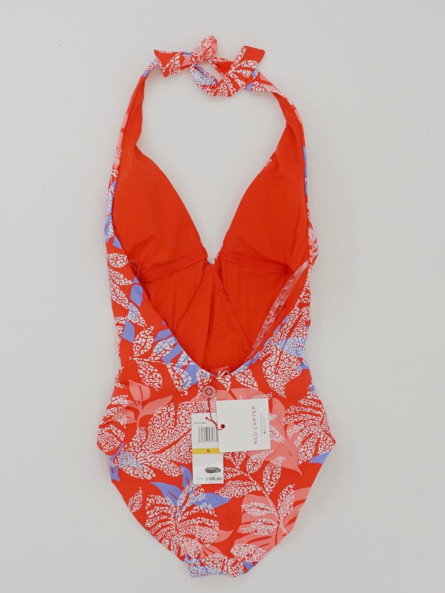 Red Paradise Deep V Maillot One Piece Size S