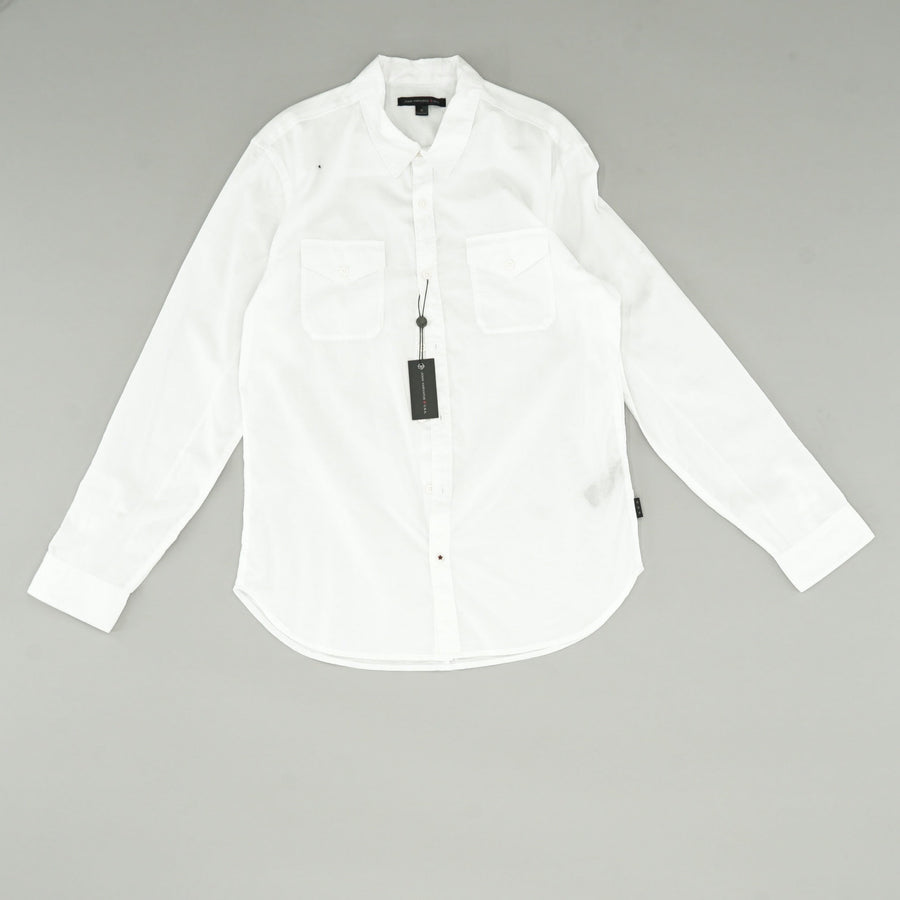 Two-Pocket Button Up Tech Shirt Size M