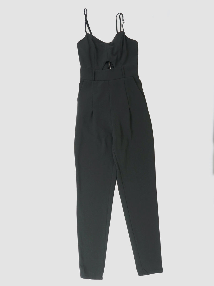 Front Cut-Out Belted Jumpsuit Size XS