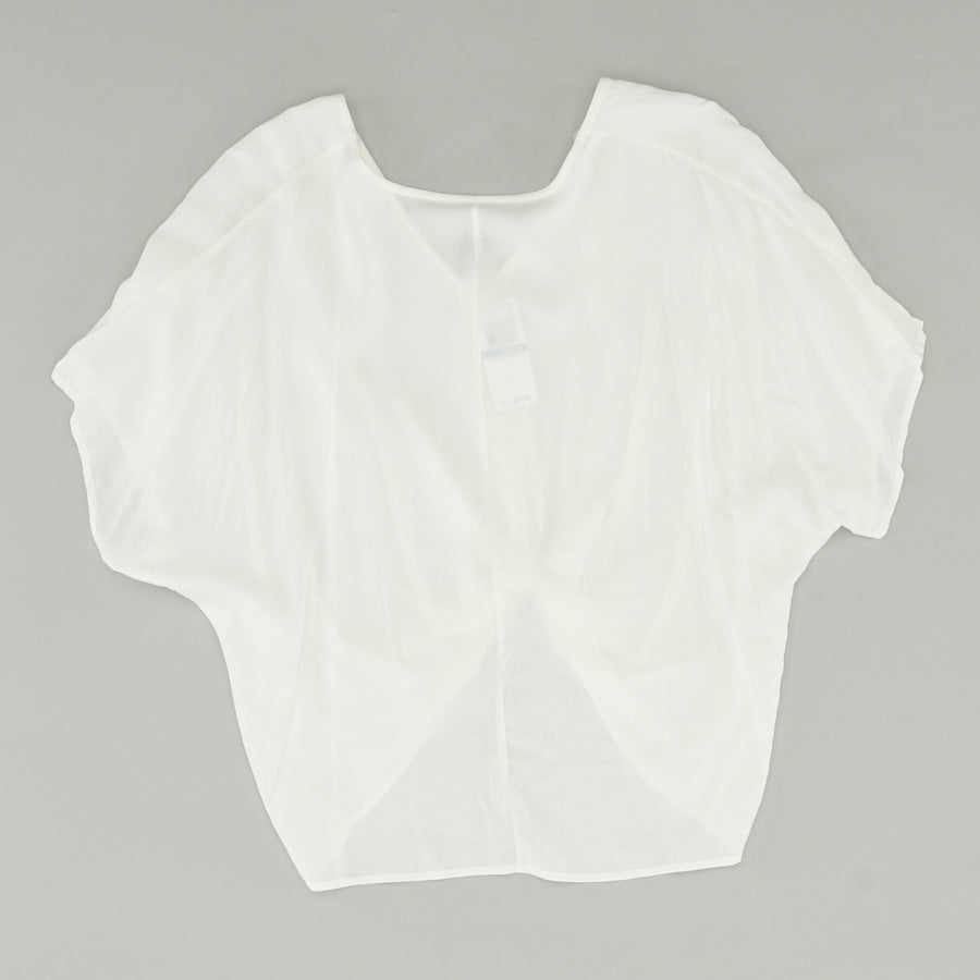Short Sleeve V-Neck Twist Front Blouse