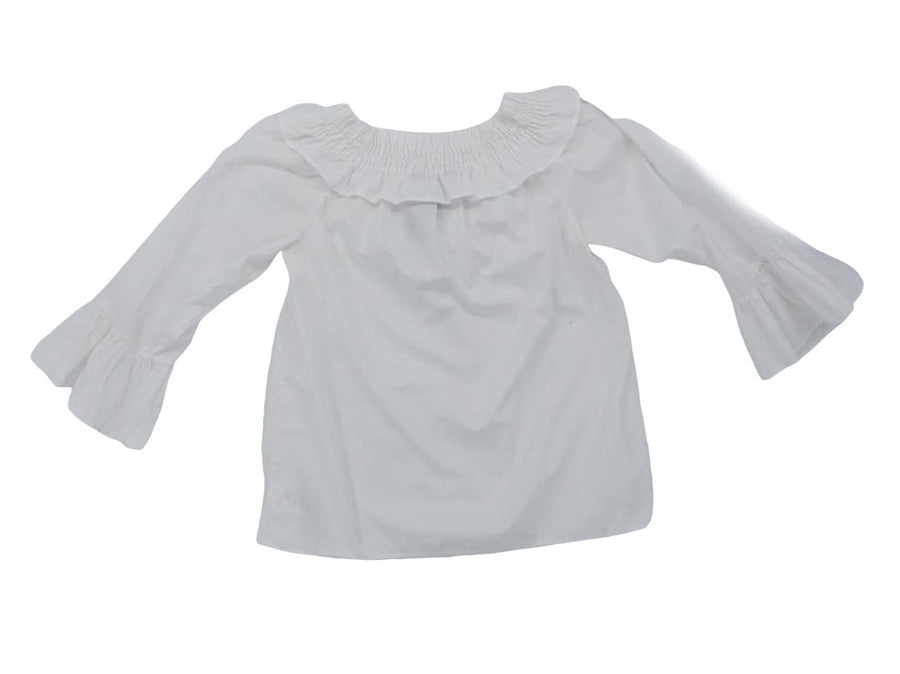 White Bell Sleeve Blouse Size 12