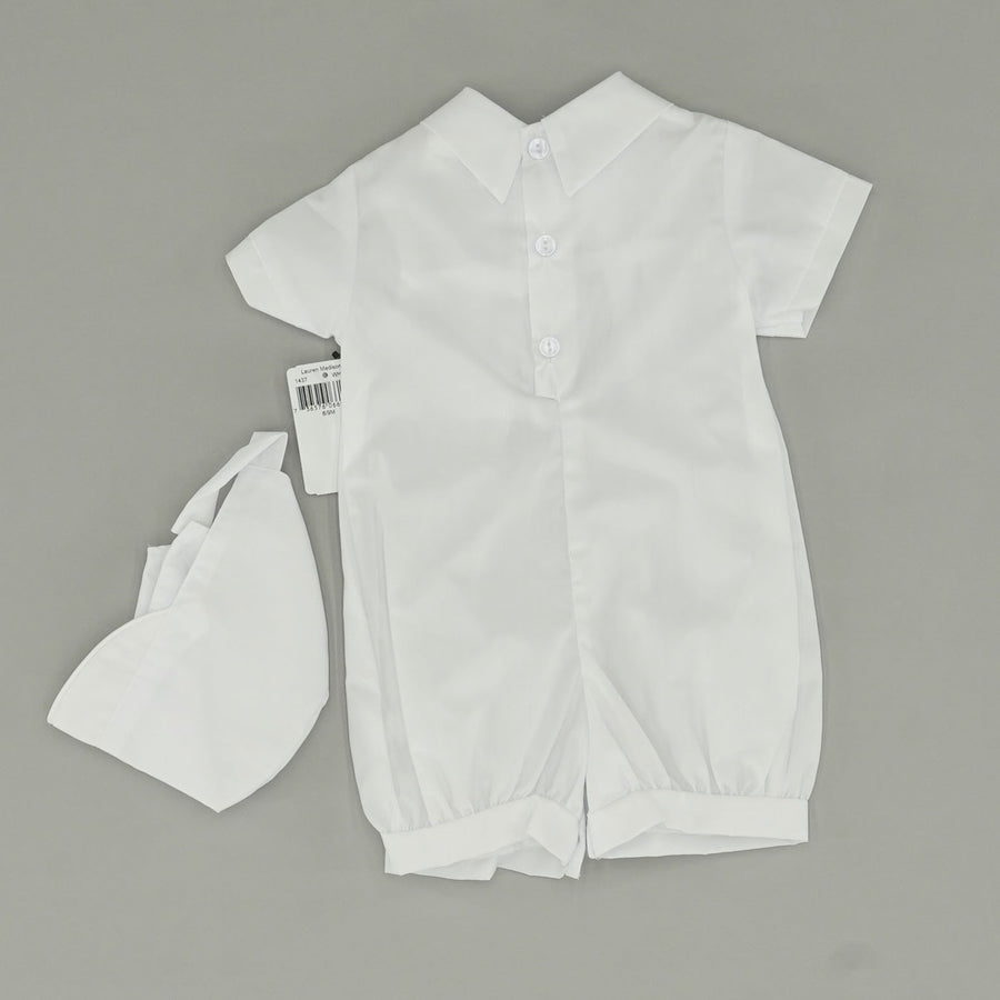 Christening Romper With Hat Size 6-9 Months