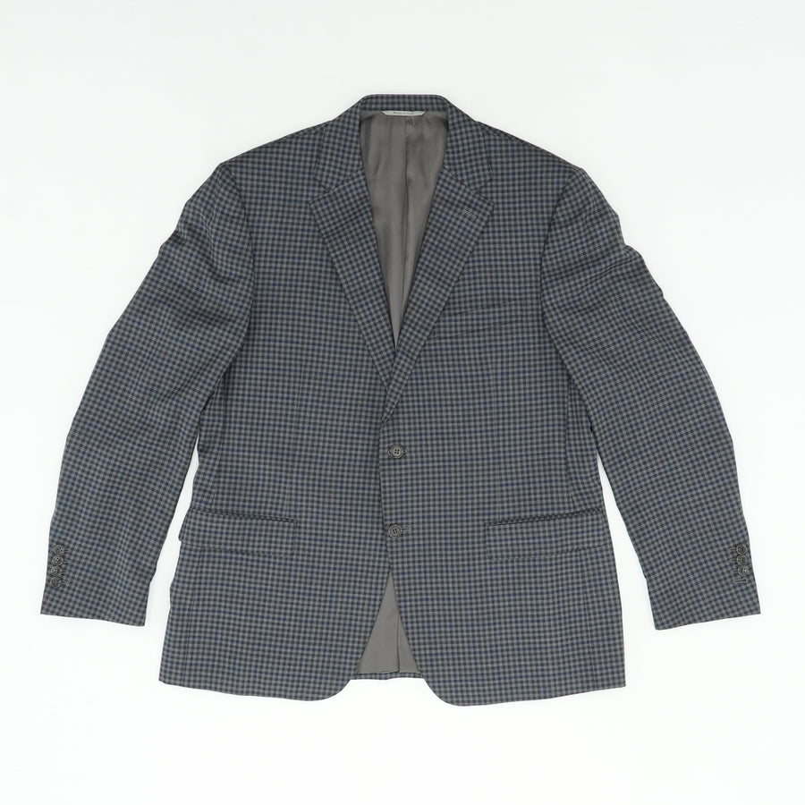 Gingham Blue Sports Coat Size 44R