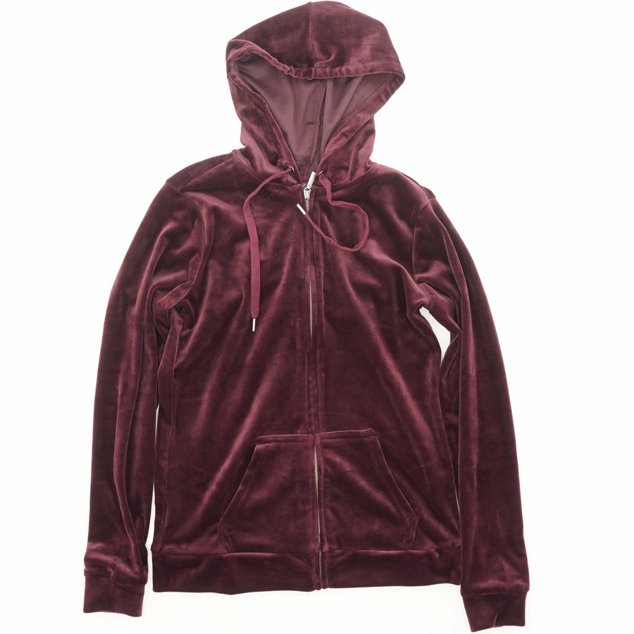Ellie Velour Hooded Jacket - Size S