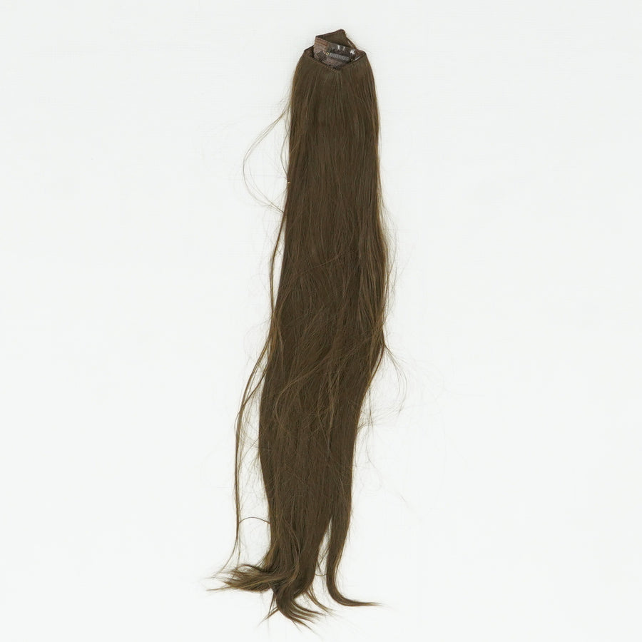 "24"" Straight 3/4 Full Head Synthetic Hair Extensions Clip On"