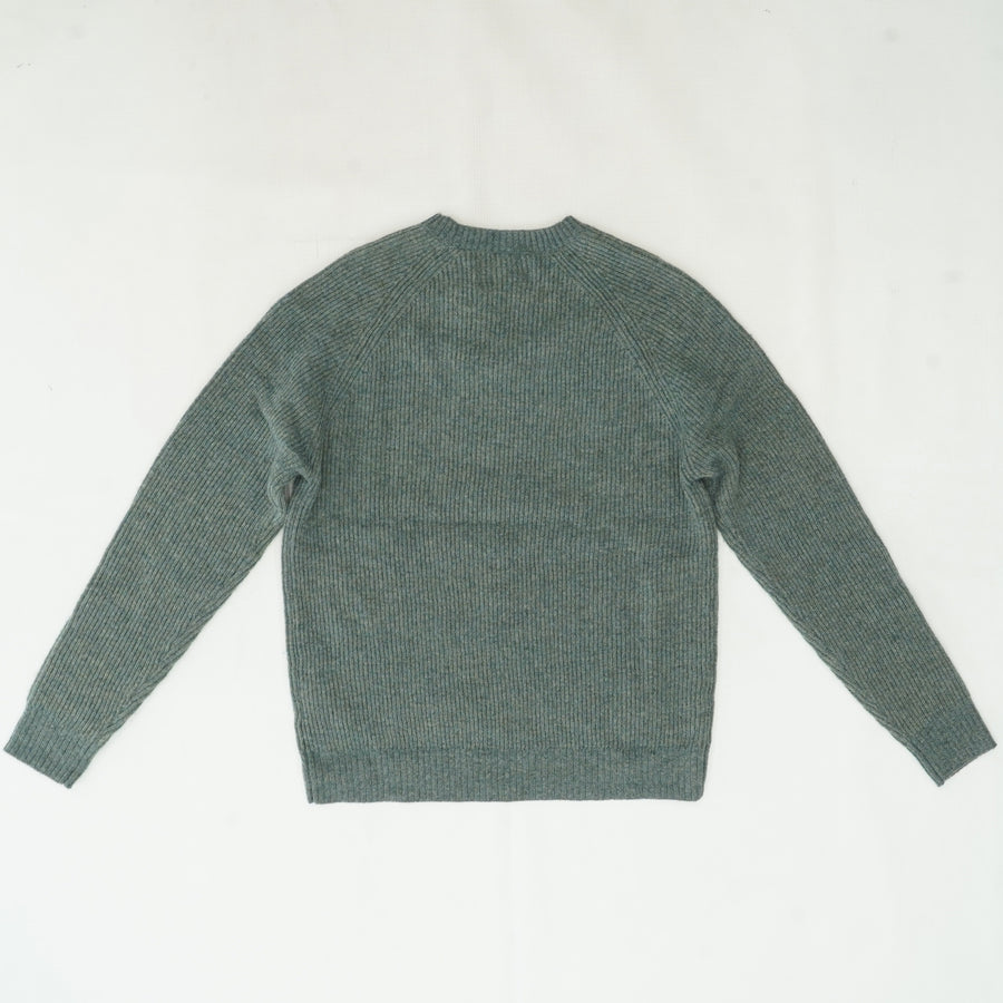 Ribbed Wool Crewneck Sweater Size L
