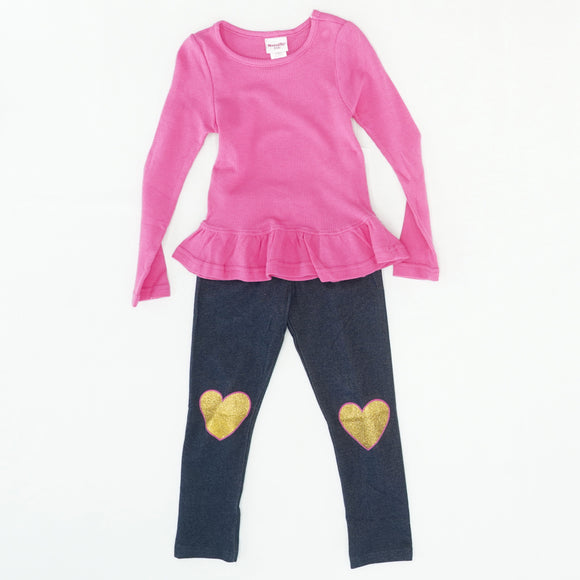 Legging And Long Sleeve 2 Piece Set Size 6