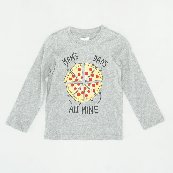 Pizza Slice Long Sleeve Shirt Size 6