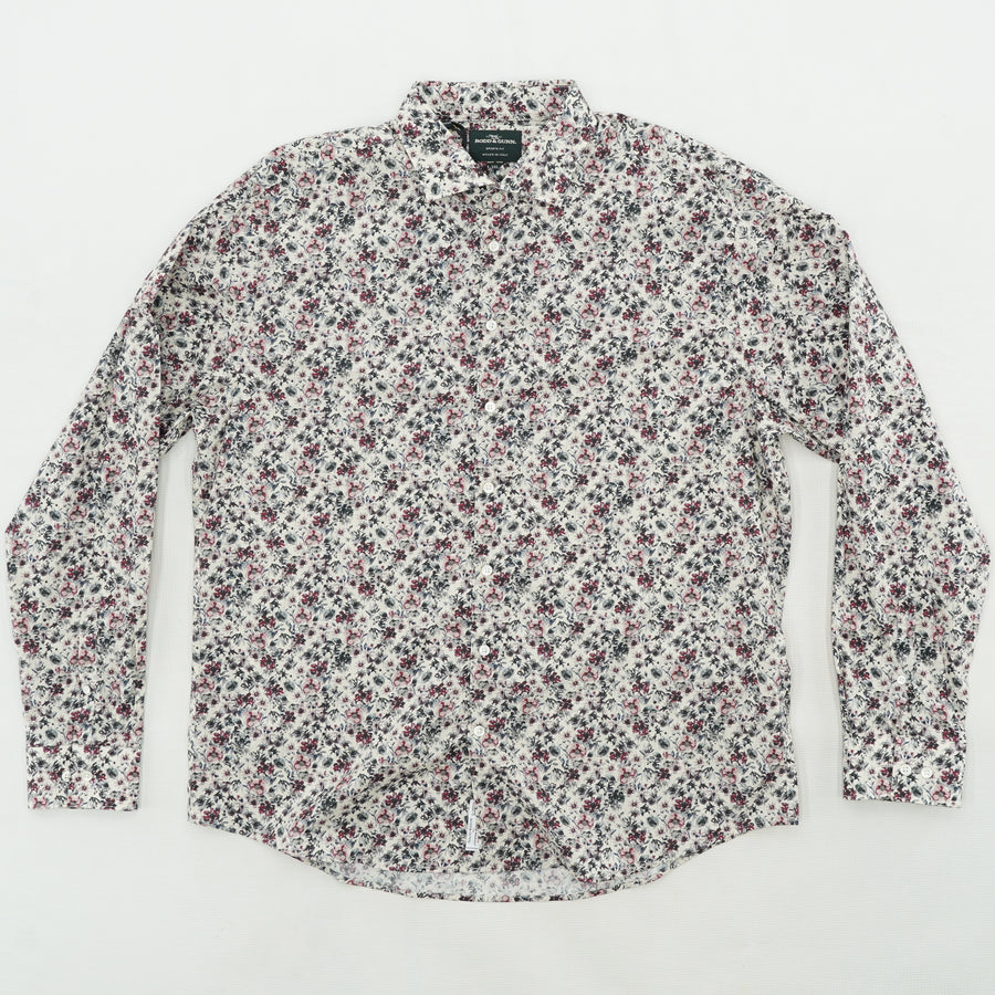 Allenton Long Sleeve Shirt Ivory Floral