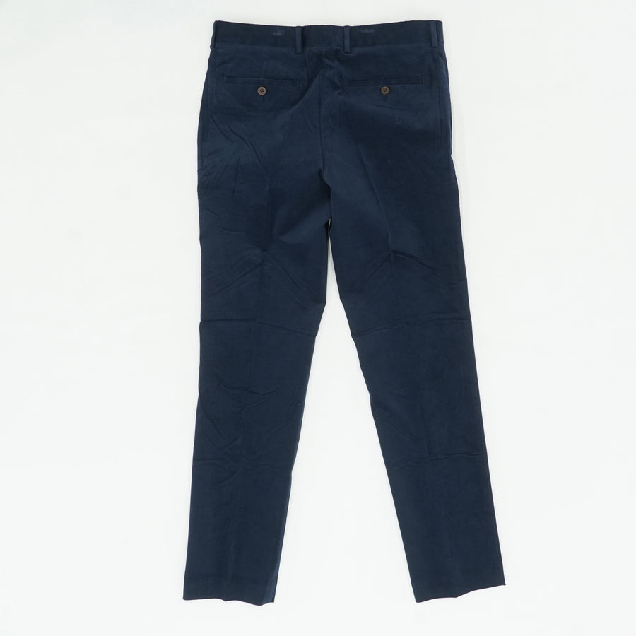 Navy Slim Fit Stretch Needlecords Trouser Pants Size 32Wx32L