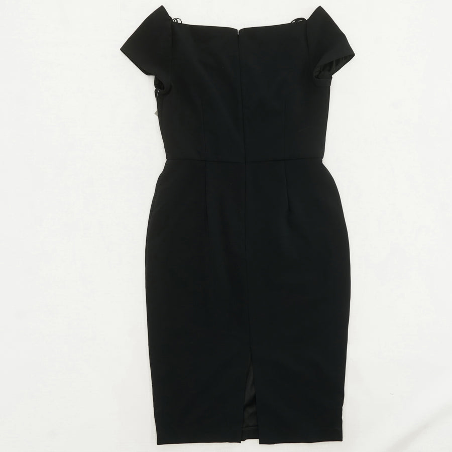 Portrait Neckline Cocktail Dress Size 10
