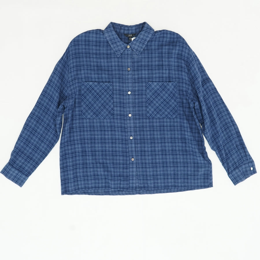 Plaid Button Down Long Sleeve Size M