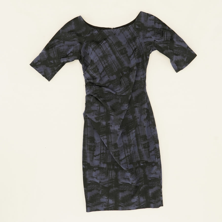Deedie 3/4-Sleeve Side Ruched Dress Size 2