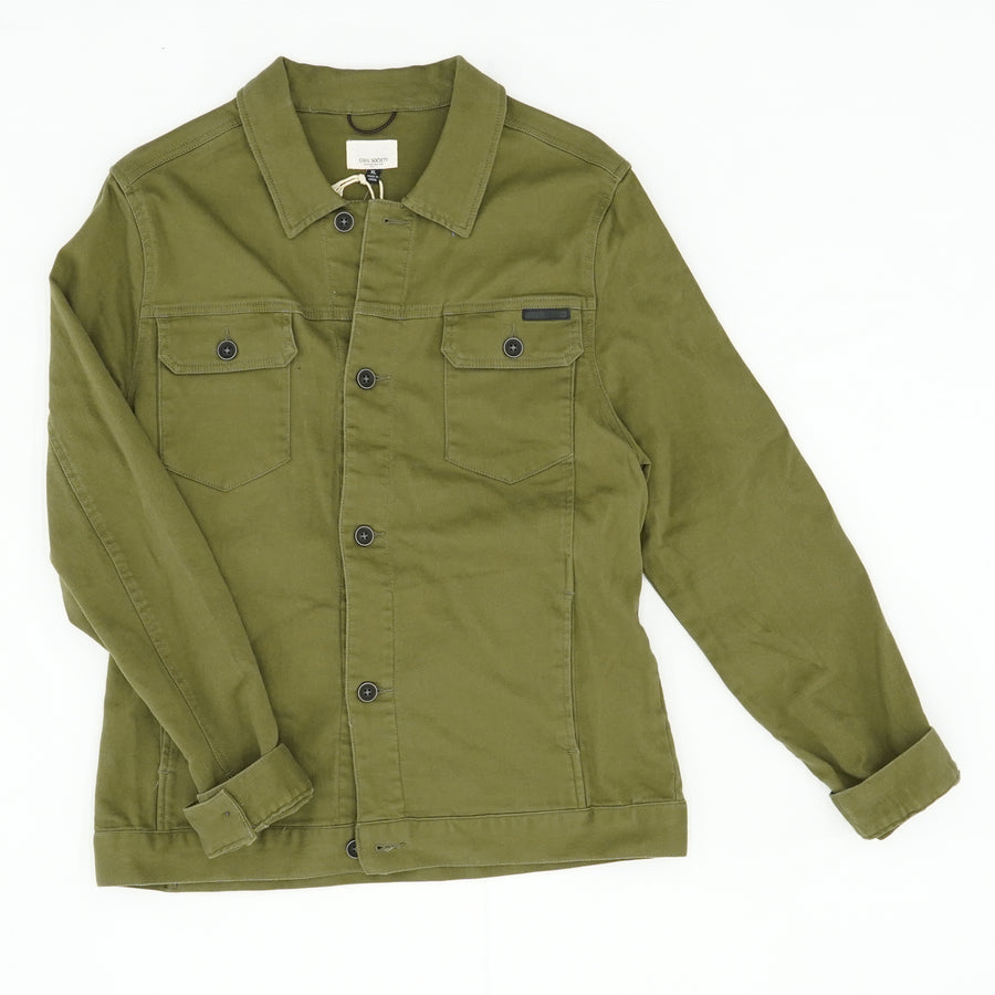 Bowery Olive Button Down Jacket Size XL