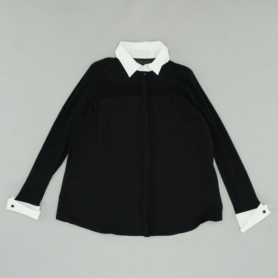 Anne Fontaine Black and White Sheryl Blouse Size 18