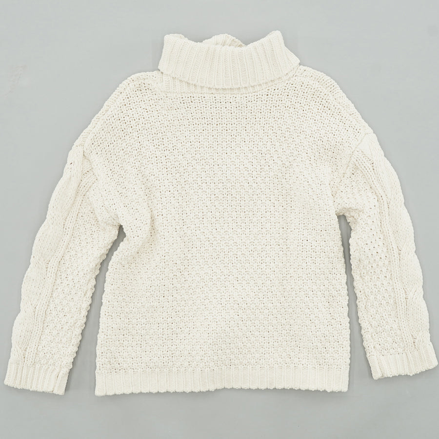 Chunky-Knit Turtleneck Sweater Size XL