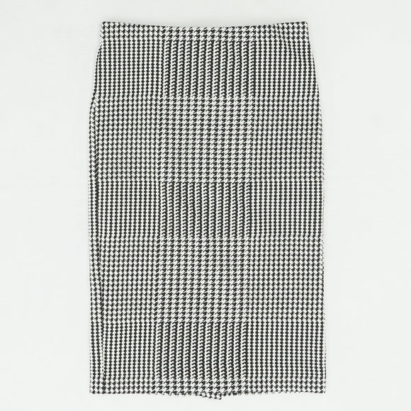 Black Houndstooth Print Skirt Size 0