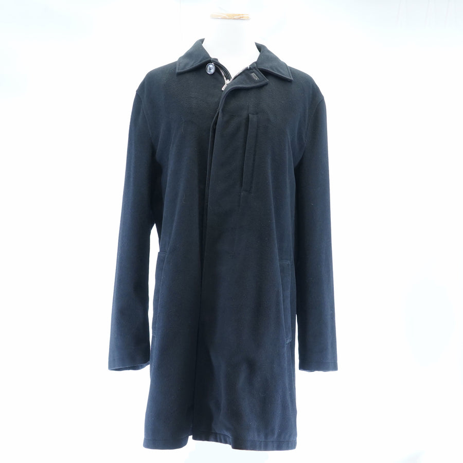 Black Full Zip Trench Coat Size M