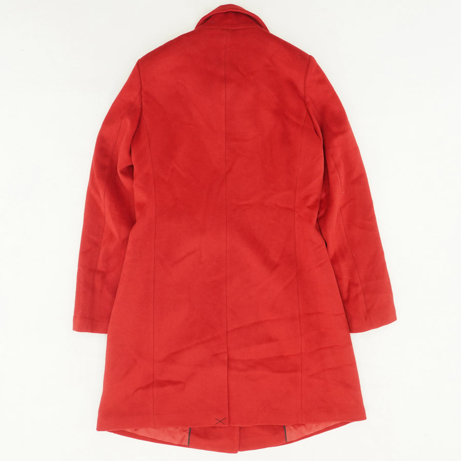 Wool-Rich Funnel Neck Coat - Size 10