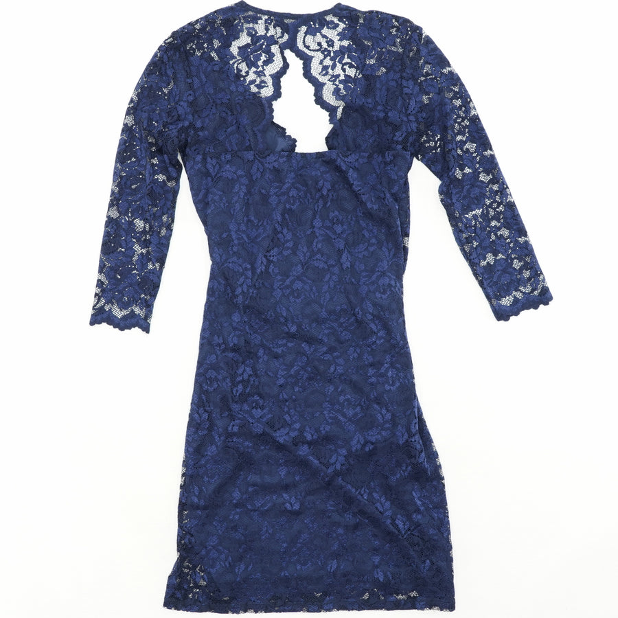 Lace Sewn Beads Party Dress Size 10