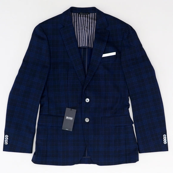 BMD Dark Blue Sports Coat Size 40R