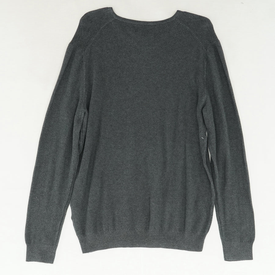 Supima Table Charcoal V-Neck Sweater