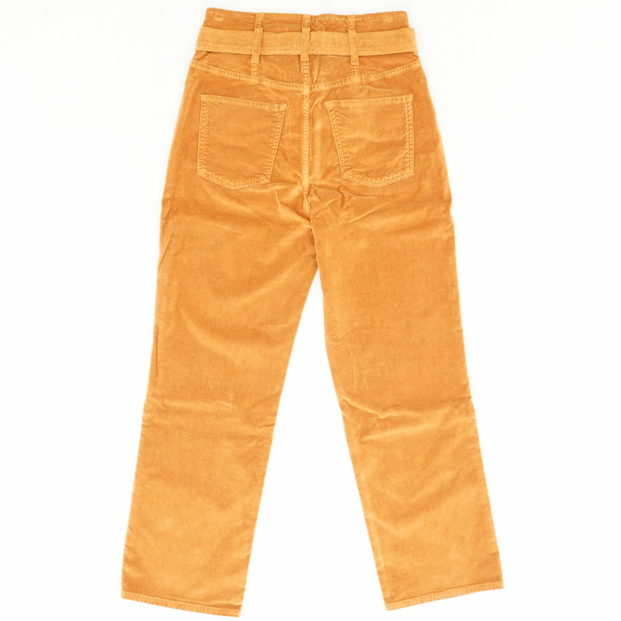 Kelly Belted High Waisted Pants In Rust