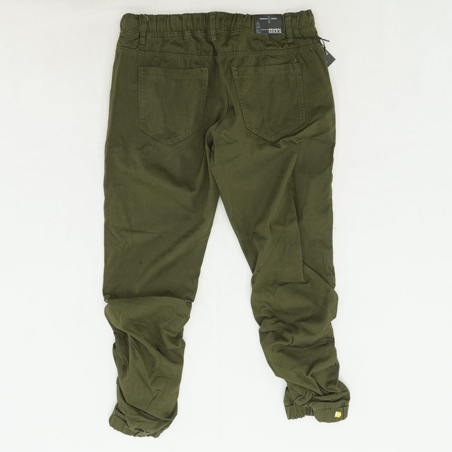 Green Denim Joggers - Size XXL