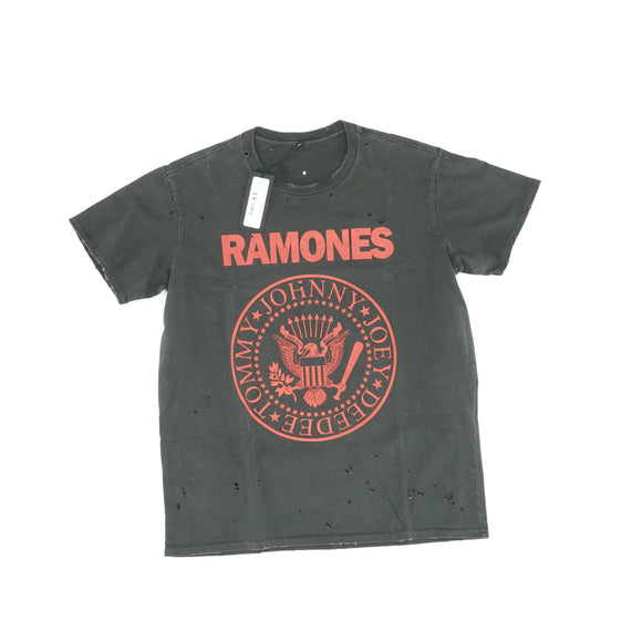 Distressed Ramones Boy Tee Size XS