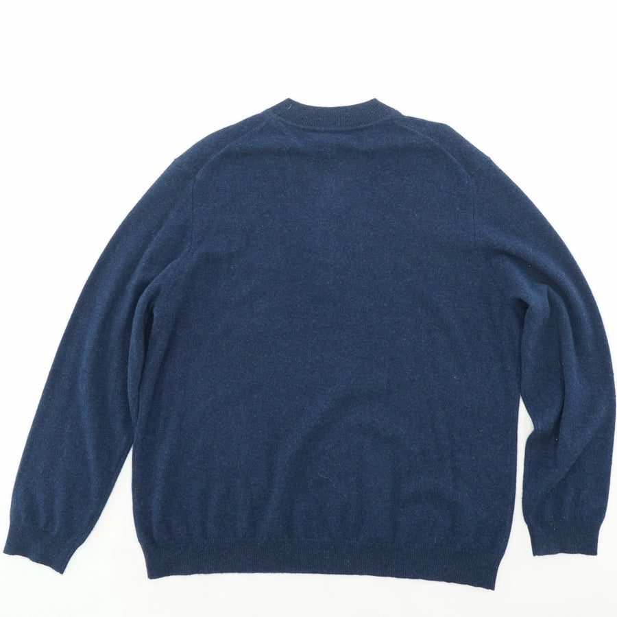 Navy 3 Button Sweater Size 3XL