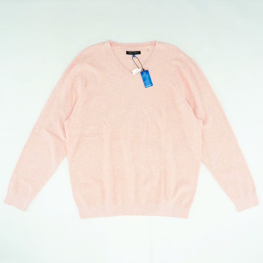 Pink V-Neck Sweater Size 2XL