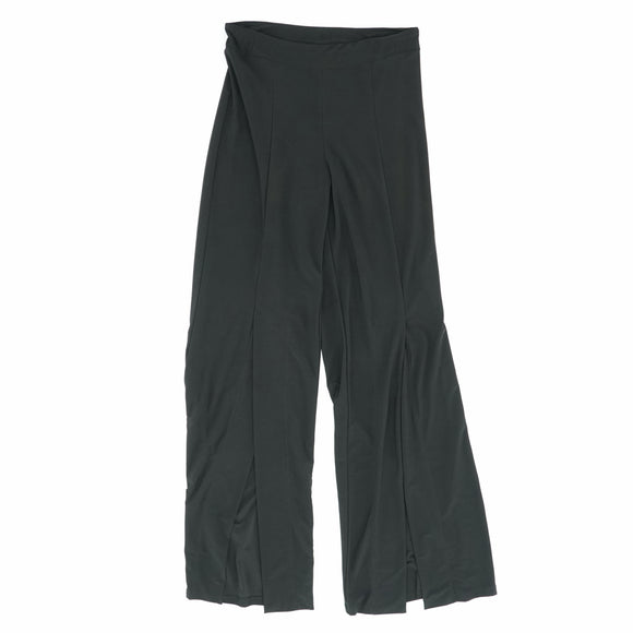 Slit Front Pants Black