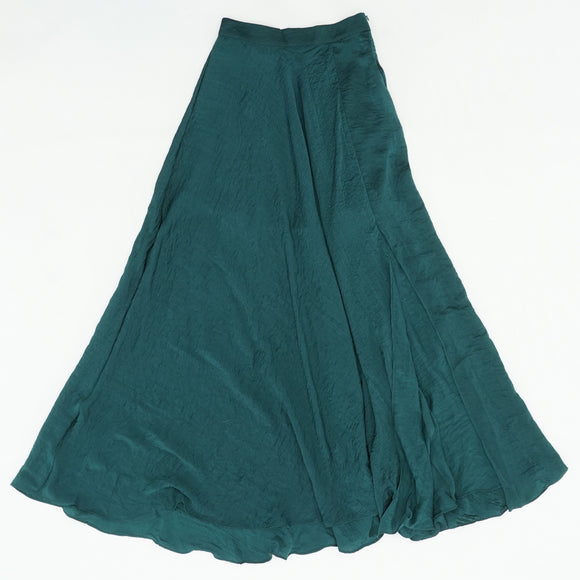 Green Solid Skirt Size XS