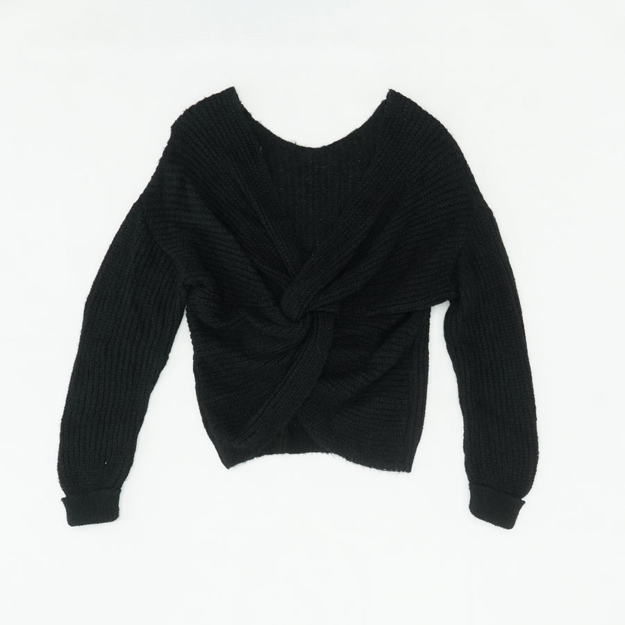 Black Detailed Back Sweater Size 2