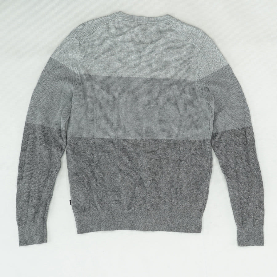 Gray Color Block Sweater Size M