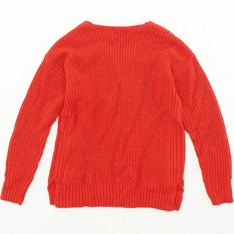 Red Knit Sweater Size S