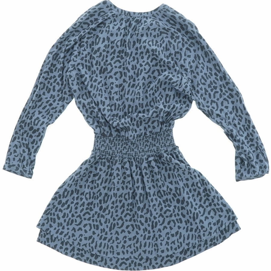 Jasmine Dress Azure Leopard Size M